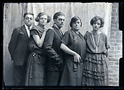 group portrait of adult men and women France ca 1930s