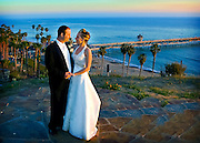 Married Couple At The Casa Romantica With San Clemente Pier In Background