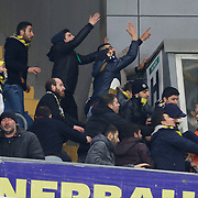 Fenerbahce's supporters during their Turkish superleague soccer derby Fenerbahce between Trabzonspor at the Sukru Saracaoglu stadium in Istanbul Turkey on Saturday 07 February 2015. Photo by Aykut AKICI/TURKPIX