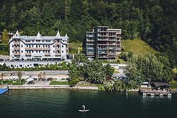 THEMENBILD - das Hotel Bellevue am Zeller See, aufgenommen am 30. Juli 2020 in Thumersbach, Österreich // the Hotel Bellevue at the Zeller Lake, Thumersbach, Austria on 2020/07/30. EXPA Pictures © 2020, PhotoCredit: EXPA/ JFK