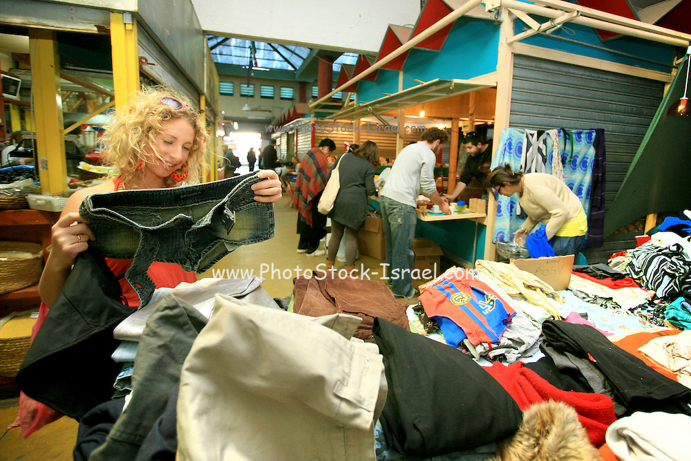 Ecological festival with second hand and recycled goods was held on TU bishvat at the Friday market of Netanya, Israel