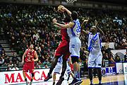 DESCRIZIONE : LegaBasket Serie A 2013-14 Dinamo Banco di Sardegna Sassari - Victoria Libertas Pesaro<br /> GIOCATORE : Elston Turner Amedeo Tessitori<br /> CATEGORIA : Tiro Penetrazione Stoppata<br /> SQUADRA :  Dinamo Banco di Sardegna Sassari<br /> EVENTO : Campionato Serie A 2013-14<br /> GARA : Dinamo Banco di Sardegna Sassari - Victoria Libertas Pesaro<br /> DATA : 02/03/2014<br /> SPORT : Pallacanestro <br /> AUTORE : Agenzia Ciamillo-Castoria / M.Turrini<br /> Galleria : Lega Basket Serie A Beko 2013-2014  <br /> Fotonotizia : LegaBasket Serie A 2013-14 Dinamo Banco di Sardegna Sassari - Victoria Libertas Pesaro<br /> Predefinita :