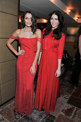 Left to right, JO RENWICK and AMBER O'SHEA at the Beulah AW13 Showcase, Bungalow 8 LFW Pop-Up at Belgraves - A Thompson Hotel, 20 Chesham Place, London SW1 on 13th February 2013.