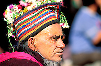 Inde - Province du Jammu Cachemire -  Ladakh - Vallée de Dah Hanu - Homme d'ethnie Darde