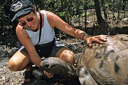 Aldabra Giant Tortoise & Janice Eden