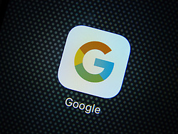 Detail of icon for Google app on a smart phone