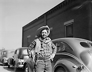 9314-02.  cowboy with holster, Texas 1940s