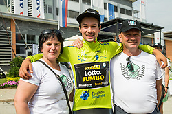 Winner Primoz Roglic of Team Lotto NL Jumbo and his mother and father after the 5th Time Trial Stage of 25th Tour de Slovenie 2018 cycling race between Trebnje and Novo mesto (25,5 km), on June 17, 2018 in  Slovenia. Photo by Vid Ponikvar / Sportida