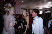 LOUISE FENNELL, POPPY  ( ?) DELAVIGNE AND DAN PHILIPSON. Selfridges Las Vegas dinner hosted by  hon Galen , Hillary Weston and Allanah Weston. Selfridges Oxford St. 20 April 2005. ONE TIME USE ONLY - DO NOT ARCHIVE  © Copyright Photograph by Dafydd Jones 66 Stockwell Park Rd. London SW9 0DA Tel 020 7733 0108 www.dafjones.com