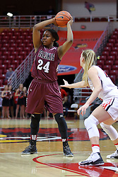 29 January 2017: Kim Nebo during an College Missouri Valley Conference Women's Basketball game between Illinois State University Redbirds the Salukis of Southern Illinois at Redbird Arena in Normal Illinois.
