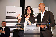 Change UK MP Heidi Allen speaks next to Chuka Umunna MP during a Peoples Vote Remain rally for the European elections by newly formed political party Change UK in London on 30th April, 2019 in London, England, United Kingdom. Change UK - The Independent Group, was formed in February 2019 by breakaway members of Parliaments from Conservative and Labour parties. The group are pro European Union and are calling for a peoples vote on Britainss exit from the union.