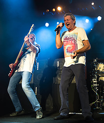 © Licensed to London News Pictures. 16/10/2013. London, UK.   Deep Purple performing live at The Roundhouse. In this pic - Roger Glover (left), Ian Gillan (right). Photo credit : Richard Isaac/LNP