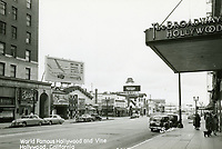 1944 Looking south on Vine St. from Hollywood Blvd.