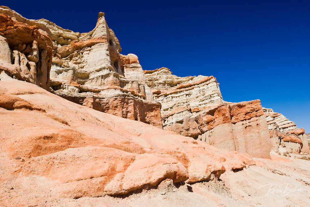 Rock formations in Red Rock Canyon State Park, Mojave Desert, California