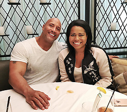 """Dwayne Johnson releases a photo on Instagram with the following caption: """"She had me at - I want to write a movie script that shows a raw, human side of you the world has never seen.\n\nA pleasure to sit for hours with the creator of POWER and prolific writer, @courtneyakemp. \nI was impressed at the deep dived research she did on my life and career before our meeting. She writes brilliantly flawed, edgy, exposed, vulnerable, intense characters and she had a take on my life in ways no writer ever has. \nA fascinating POV from this woman, on what makes me the man I am today. \nThis is the first step of many and projects like this take time. Great initial meeting and can't wait to dig in with her. \nRage.. Rage against the dying of the light. #JohnsonKemp #Collaboration"""". Photo Credit: Instagram *** No USA Distribution *** For Editorial Use Only *** Not to be Published in Books or Photo Books ***  Please note: Fees charged by the agency are for the agency's services only, and do not, nor are they intended to, convey to the user any ownership of Copyright or License in the material. The agency does not claim any ownership including but not limited to Copyright or License in the attached material. By publishing this material you expressly agree to indemnify and to hold the agency and its directors, shareholders and employees harmless from any loss, claims, damages, demands, expenses (including legal fees), or any causes of action or allegation against the agency arising out of or connected in any way with publication of the material."""