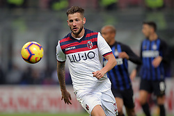 February 3, 2019 - Milan, Milan, Italy - Arturo Calabresi #33 of Bologna FC during the serie A match between FC Internazionale and Bologna FC at Stadio Giuseppe Meazza on February 3, 2019 in Milan, Italy. (Credit Image: © Giuseppe Cottini/NurPhoto via ZUMA Press)