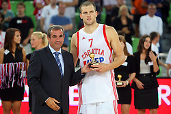 Miro Smrekar and Bojan Bogdanovic of Croatia at friendly match between Serbia and Croatia for Adecco Cup 2011 as part of exhibition games before European Championship Lithuania on August 9, 2011, in SRC Stozice, Ljubljana, Slovenia. (Photo by Urban Urbanc / Sportida)