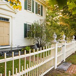 Outside the Frankiln Pierce Homestead in Hillsborough, New Hampshire.