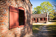 Preserved slave quarters at Boone Hall Plantation in Charleston, SC.