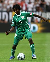 30.06.2011, Commerzbank Arena, Frankfurt, GER, FIFA Women Worldcup 2011, Gruppe A, Deutschland (GER) vs. Nigeria (NGA), im Bild .Ebere Orji (NGA) .// during the FIFA Women Worldcup 2011, Pool A, Germany vs Nigeria on 2011/06/30, Commerzbank Arena, Frankfurt, Germany.  EXPA Pictures © 2011, PhotoCredit: EXPA/ nph/  Karina Hessland       ****** out of GER / CRO  / BEL ******