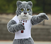 Lindenwood-Belleville Lynx mascot fires up the crowd during the first football game in Lindenwood-Belleville history.