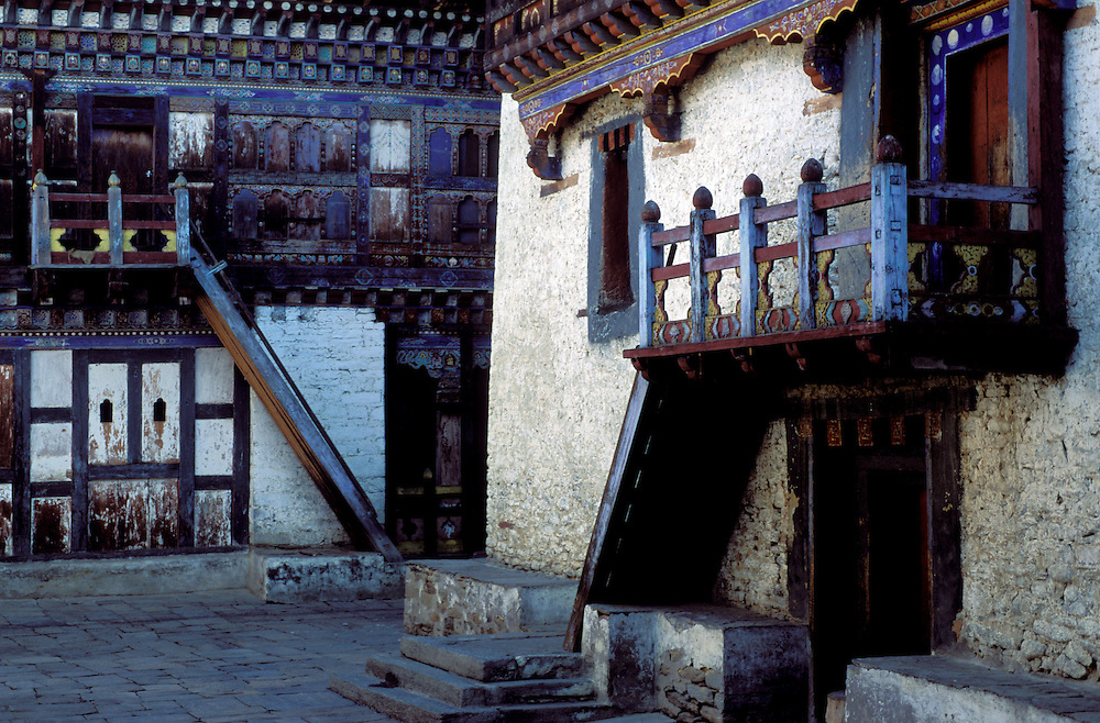 Dilapidated and semi-deserted monastery in the Bumthang region of Bhutan
