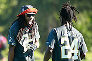January 29 2016: Team Irvin Richard Sherman and Adam Jones during the Pro Bowl practice at Turtle Bay Resort on Oahu, HI. (Photo by Aric Becker/Icon Sportswire)