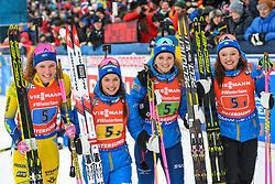 March 16, 2019 - –Stersund, Sweden - 190316 Hanna Öberg, Mona Brorsson, Anna Magnusson and Linn Persson of Sweden celebrates after the Women's 4x6 km Relay during the IBU World Championships Biathlon on March 16, 2019 in Östersund..Photo: Petter Arvidson / BILDBYRÃ…N / kod PA / 92268 (Credit Image: © Petter Arvidson/Bildbyran via ZUMA Press)
