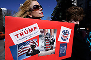 """A supporter of U.S. President Donald Trump holds a sign at a """"Spirit of America"""" rally in Denver February 27, 2017.   REUTERS/Rick Wilking"""