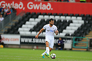 Jordi Amat  of Swansea city in action.Premier league match, Swansea city v Hull city at the Liberty Stadium in Swansea, South Wales on Saturday 20th August 2016.<br /> pic by Andrew Orchard, Andrew Orchard sports photography.