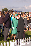 The Queen. Cartier International Day at Guards Polo Club, Windsor Great Park. July 24, 2005. ONE TIME USE ONLY - DO NOT ARCHIVE  © Copyright Photograph by Dafydd Jones 66 Stockwell Park Rd. London SW9 0DA Tel 020 7733 0108 www.dafjones.com
