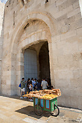 Bagel peddler at Jaffa Gate at the Old City of Jerusalem