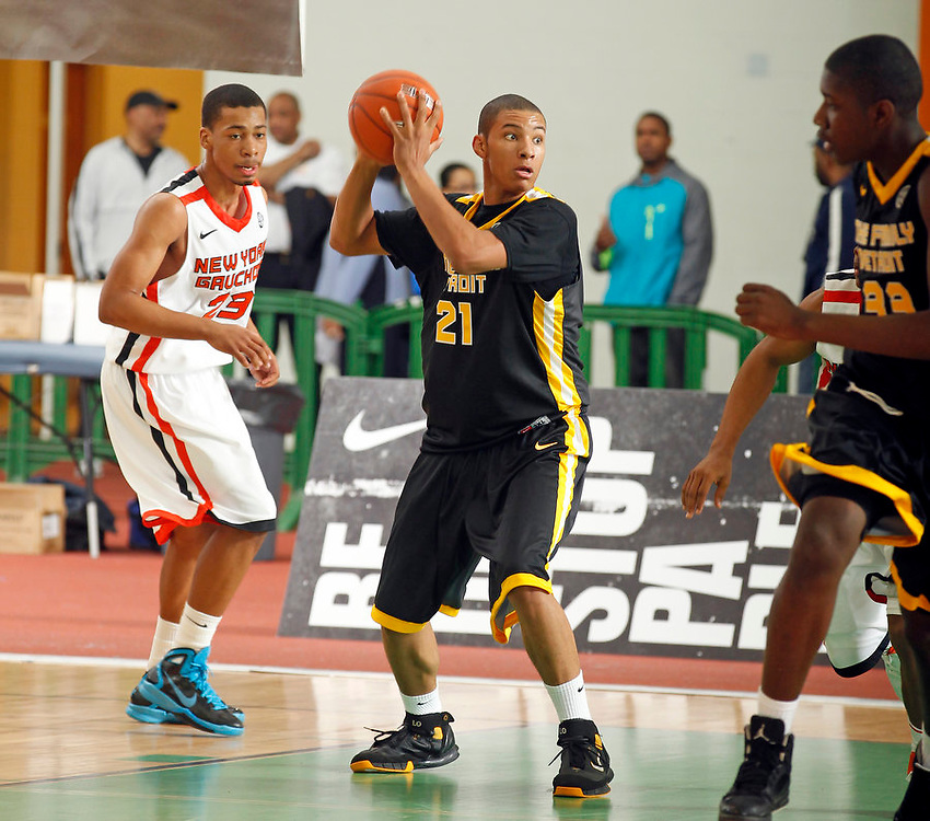 April 9, 2011 - Hampton, VA. USA;  Quaran Jones participates in the 2011 Elite Youth Basketball League at the Boo Williams Sports Complex. Photo/Andrew Shurtleff