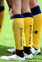 A detail of the Worcester Warriors yellow socks - Mandatory by-line: Robbie Stephenson/JMP - 30/07/2016 - RUGBY - Kingston Park - Newcastle, England -  v  - Singha Premiership 7s