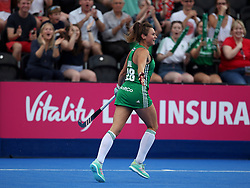 Ireland's Deirdre Duke celebrates scoring her side's first goal of the game during the Vitality Women's Hockey World Cup pool B match at The Lee Valley Hockey and Tennis Centre, London.