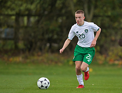 WREXHAM, WALES - Wednesday, October 30, 2019: Republic of Ireland's Corey McLoughlin during the 2019 Victory Shield match between Wales and Republic of Ireland at Colliers Park. (Pic by David Rawcliffe/Propaganda)