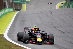 November 10, 2018 - Sao Paulo, Sao Paulo, Brazil - MAX VERSTAPPEN, of Red Bull Racing, during the free practice session for the Formula One Grand Prix of Brazil at Interlagos circuit, in Sao Paulo, Brazil. The grand prix will be celebrated next Sunday, November 11. (Credit Image: © Paulo LopesZUMA Wire)