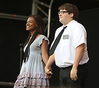 THE BOOK OF MORMON   performing at westend live trafalgar square london photo by Roger Alacron