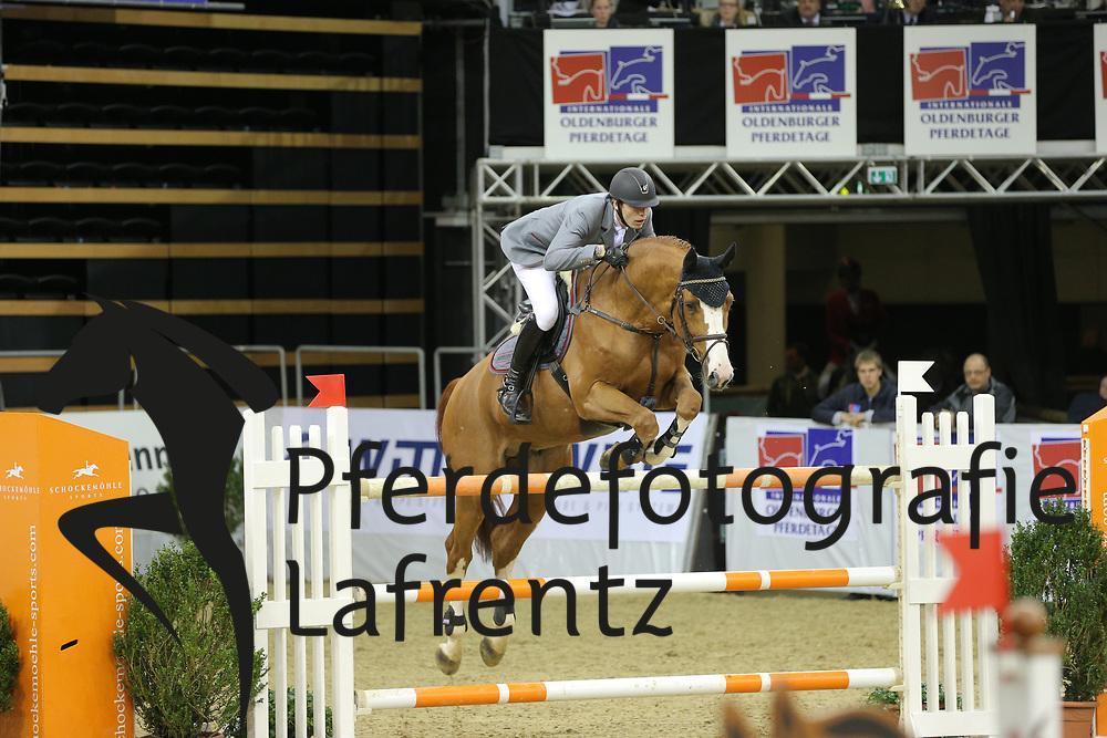 Schou, Christian Balougraph<br /> Oldenburg - Oldenburger Pferdetage 2013<br /> Internationales Springen<br /> © www.sportfotos-lafrentz.de / Stefan Lafrentz