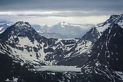 Frozen lake | Frozen lake on mountainside, Troms, Norway