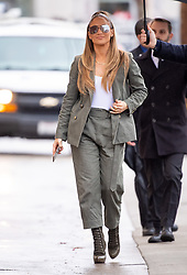 Jennifer Lopez is seen at 'Jimmy Kimmel Live' in Los Angeles, California. NON-EXCLUSIVE February 13, 2019. 13 Feb 2019 Pictured: Jennifer Lopez. Photo credit: RB/Bauergriffin.com / MEGA TheMegaAgency.com +1 888 505 6342