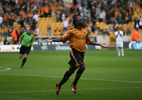 Photo: Rich Eaton.<br /> <br /> Wolverhampton Wanderers v Luton Town. Coca Cola Championship. 26/08/2006. Jemal Johnson celebrates scoring Wolves first goal at the start of the second half