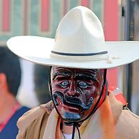 Mexico, Oaxaca. dancer on Dia de Los Muertos.