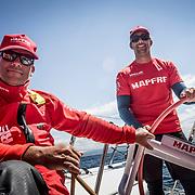© María Muiña I MAPFRE: Pablo Arrarte y Willy Altadill entrenando a bordo del MAPFRE. Pablo Arrarte and Willy Altadill training on board MAPFRE.