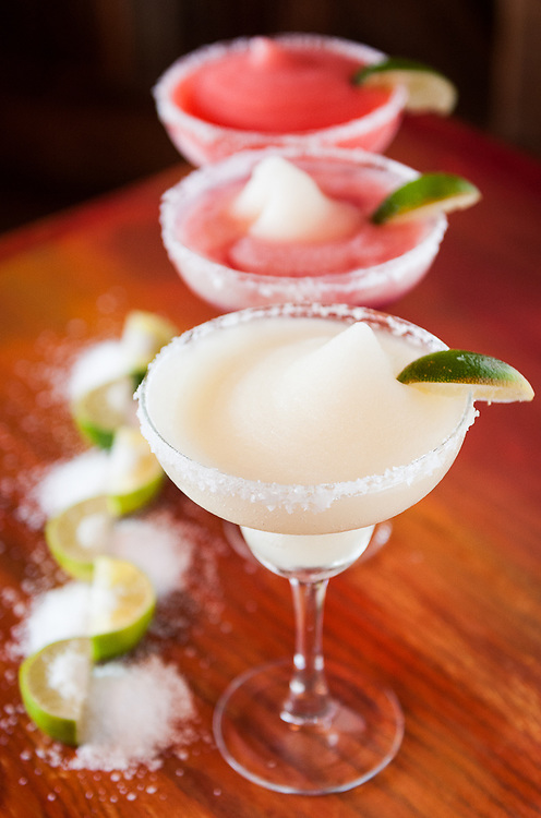 Image of 3 margarita cocktail drinks.