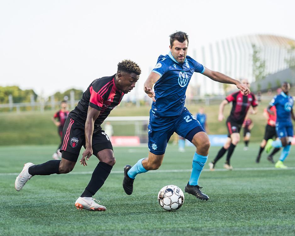 OTTAWA, ON - July 24: Canadian Championship - Ottawa Fury FC vs Halifax Wanderers at TD Place Stadium in Ottawa, ON. Canada on July 24, 2019.<br /> <br /> PHOTO: Steve Kingsman/Freestyle Photography for Ottawa Fury FC