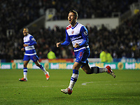 Football - Barclays Premier League - Reading vs. Manchester United<br /> Adam le Fondre of Reading celebrates scoring their second goal to level the score (2-2) at the Madejski Stadium, Reading