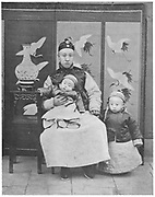 Pu-Yi (Hsuan T'ung - 1906-1967). Last emperor of China 1908-1912 (right) with his father and Regent, Prince Ch'un and his little brother Pu-Chieh.