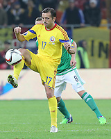 ROMANIA, Bucharest : Romania's Lucian Sanmartean during the Euro 2016 Group F qualifying football match Romania vs Northern Ireland in Bucharest, Romania on November 14, 2014.