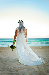 08 Feb 2014. Cancun, Mexico.<br /> Wedding Day at the Beach Palace Hotel.<br /> Photo; Charlie Varley/varleypix.com